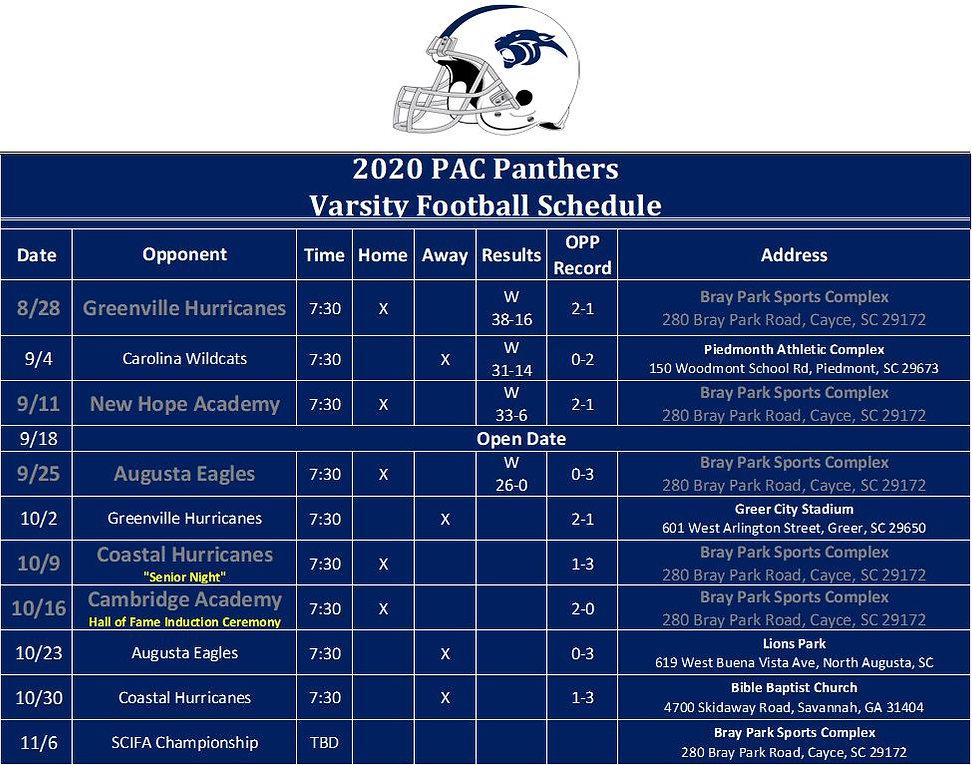 2020 Varsity Schedule - Picture Format.J