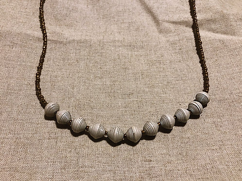 Grey and Bronze Necklace