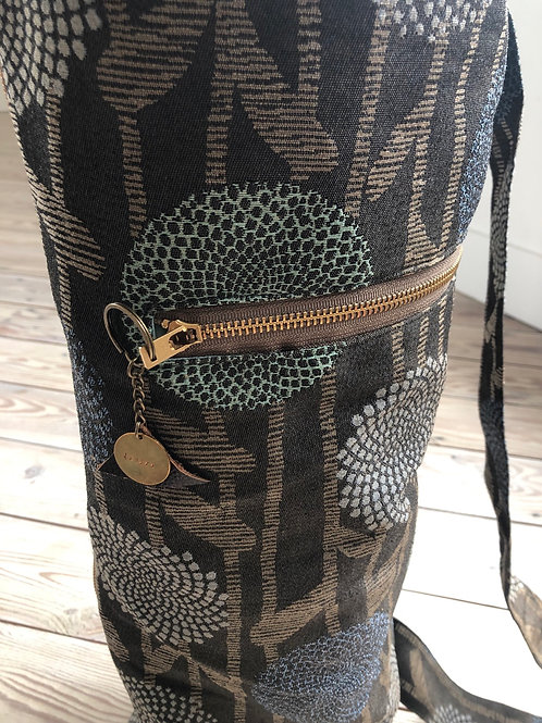 """LESPRI by Zel Haiti Yoga Bag """"Abstract Earth Blooms"""" Collection"""