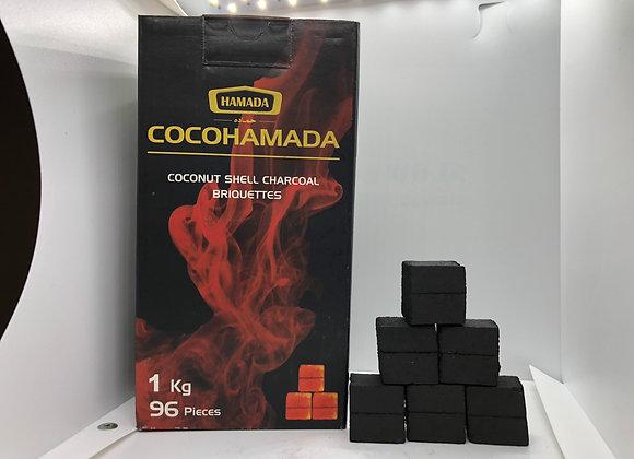 COCO HAMADA CHARCOAL 1 KG * 96 PIECES