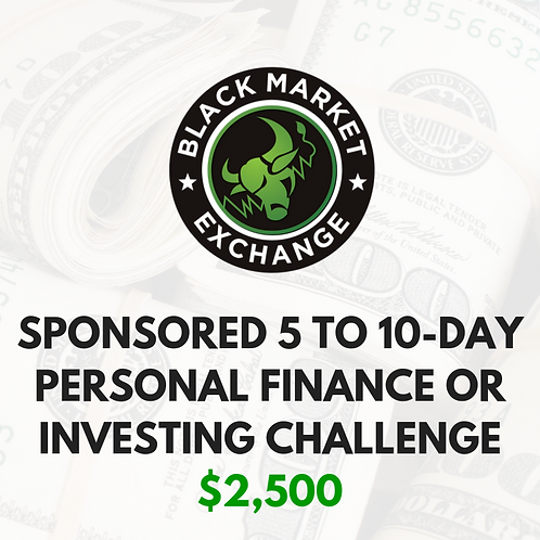 Sponsored 5 to 10-Day Personal Finance or Investing Challenge