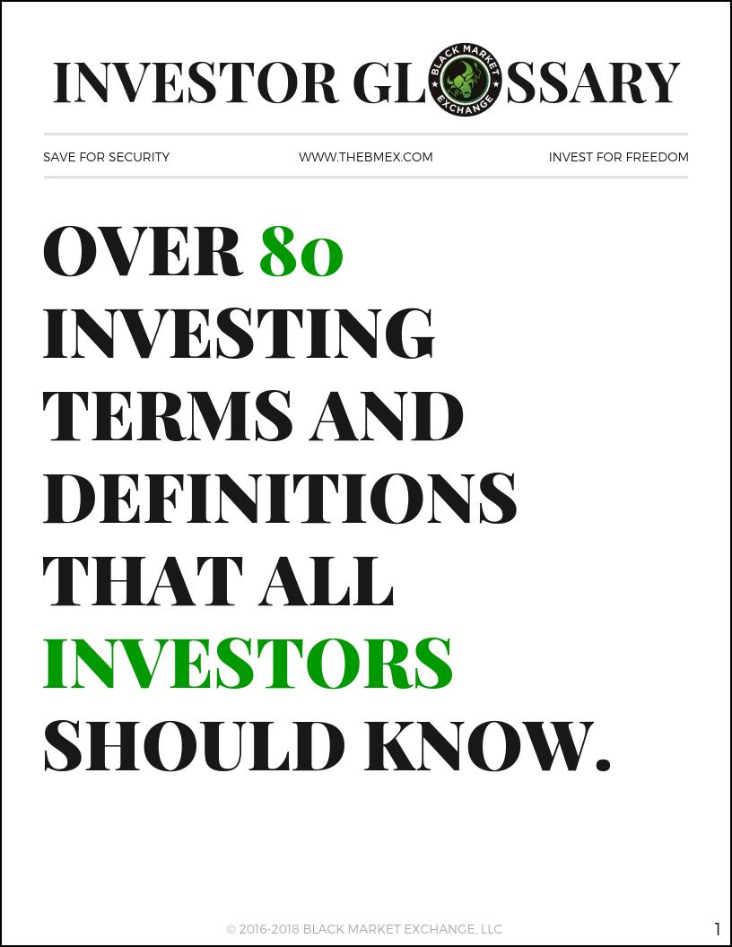 Investor Glossary