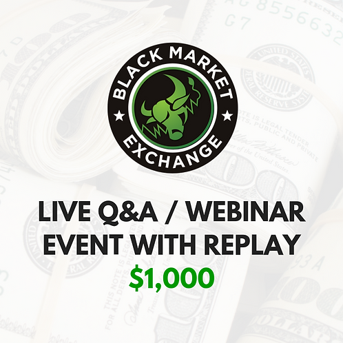 Live Q&A / Webinar Event with Replay