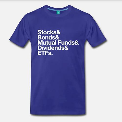 Money Stack Retro T-Shirt [Blue]