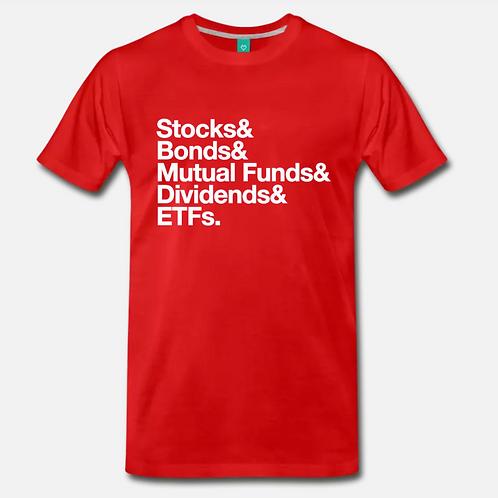 Money Stack Retro T-Shirt [Red]