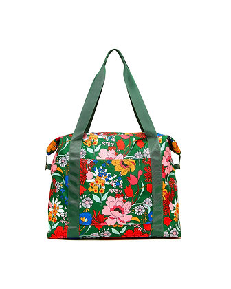 GOING PLACES WEEKENDER BAG, SUPERBLOOM (EMERALD)