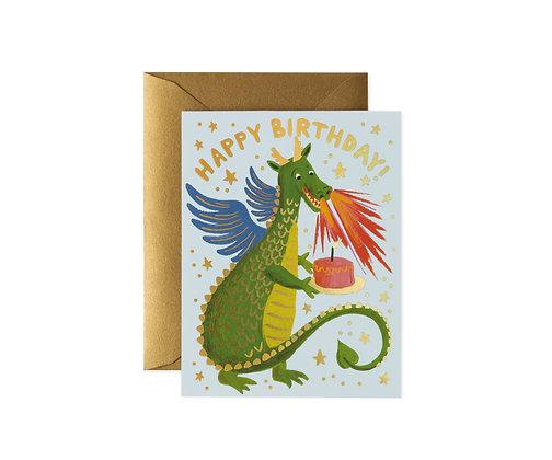 CARD-BIRTHDAY DRAGON