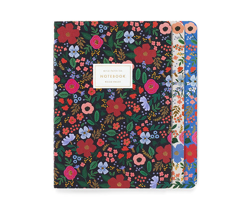 STITCHED NOTEBOOKS SET3-WILD ROSE