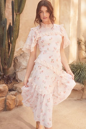 DESERT ROSE LACE BALLERINA DRESS
