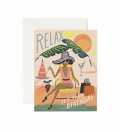CARD-RELAX BIRTHDAY