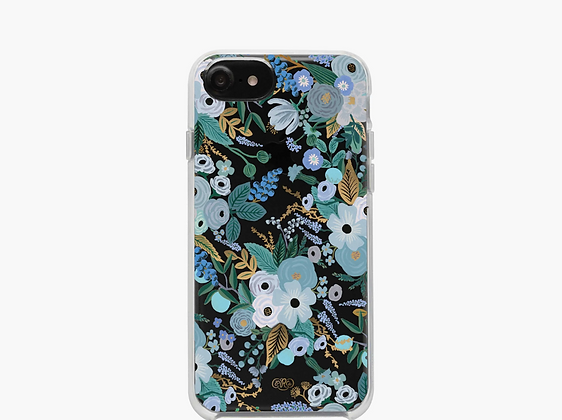 IPHONE 11 PRO MAX CASE-CLEAR GARDEN PARTY BLUE