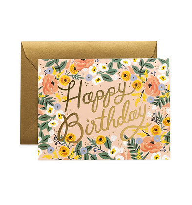 CARD-ROSE BIRTHDAY