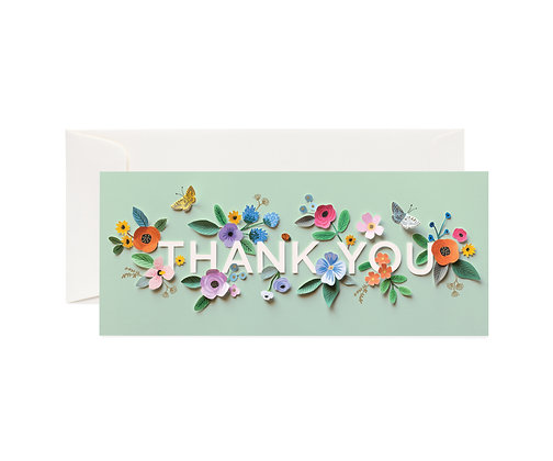 NO. 1 0 CARDS-CUT PAPER THANK YOU