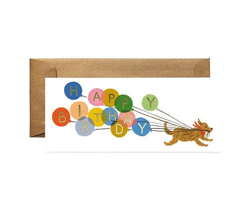 CARD-BALLOON BIRTHDAY