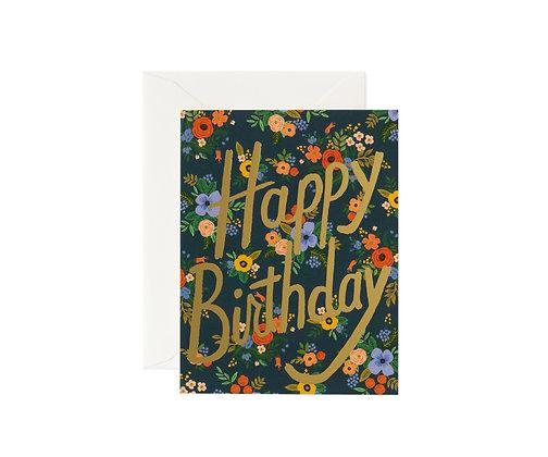 CARD-GARDEN BIRTHDAY