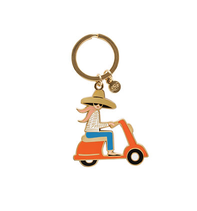 ENAMEL KEYCHAINS-SCOOTER