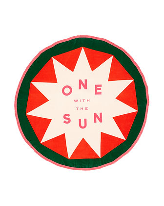 ALL AROUND GIANT CIRCLE TOWEL, ONE WITH THE SUN