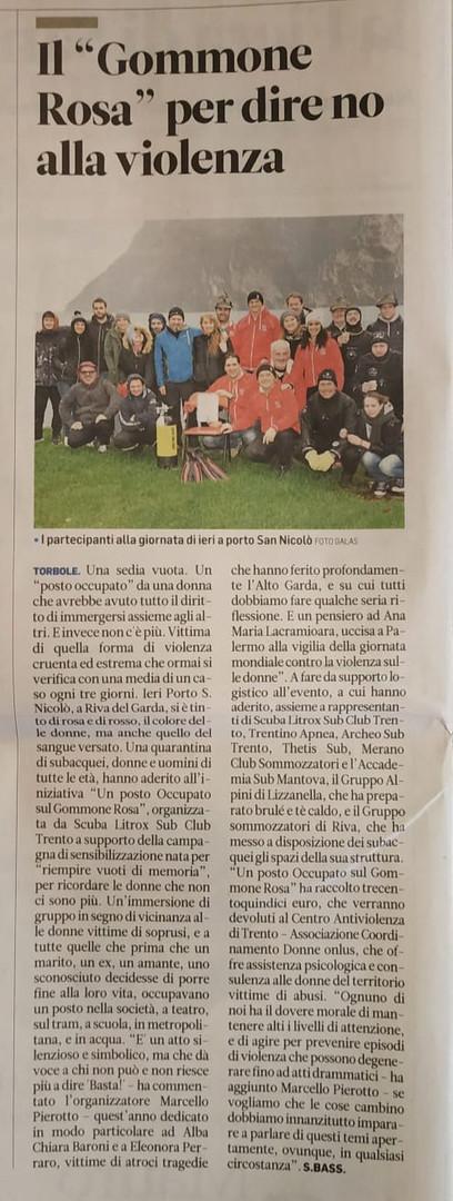 Articolo Trentino dd. 26.11.2019