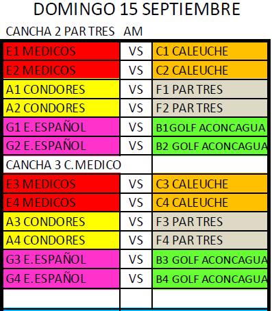 Domingo 15/09 se juega la Sexta Fecha del Torneo por Equipos 2019