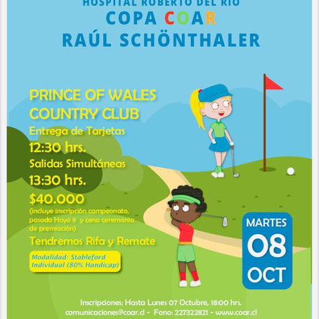 Invitación a Torneo Golf en Beneficio de los Niños del Hospital Roberto del Río