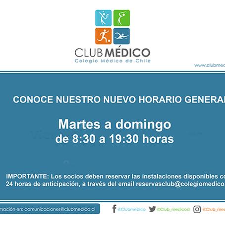 Informamos apertura Cancha Club Médico
