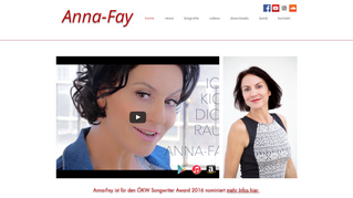 Website | Singer & Songwriter Anna Fay