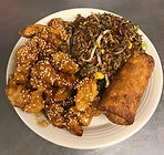 Sesame Chicken Combination Plate