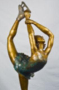 Bronze Ice Skater in classic pose