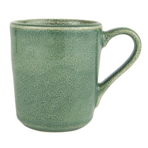 Tasse grün mit Henkel