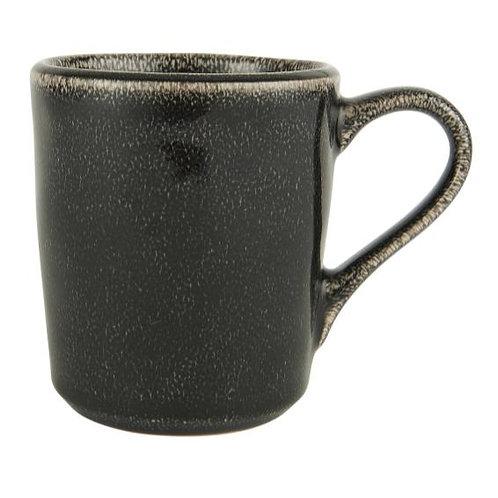 Tasse schwarz mit Henkel