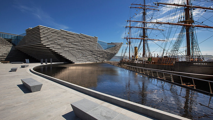 V&A Museum and RRS Discovery at Dundee waterfront