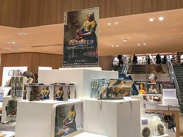 Vermeer display in a museum shop