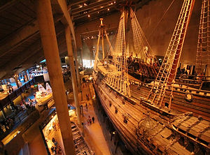 model of an old ship in a museum