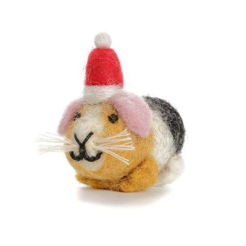 Christmas guinea pig decoration