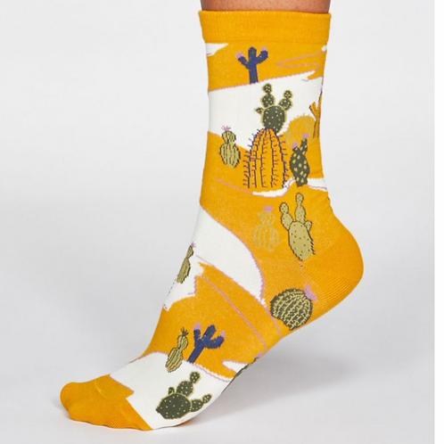 Cactus socks yellow (organic cotton)