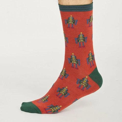 Terracotta robot socks