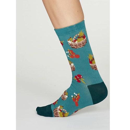 Turquoise allotment socks