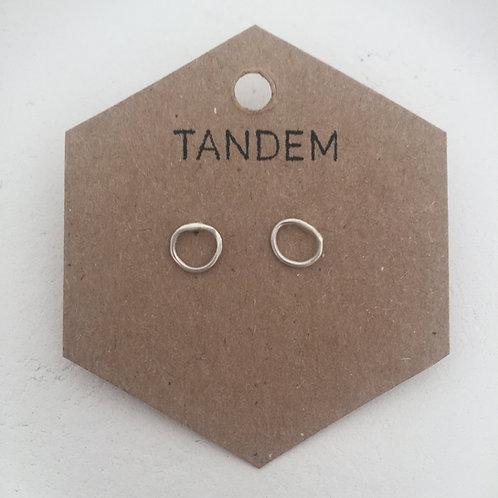 Silver mini circle studs
