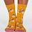 Thumbnail: Spotty yellow bicycle socks