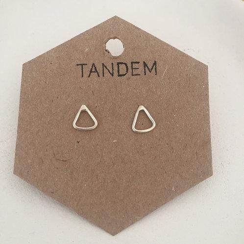 Silver mini triangle studs