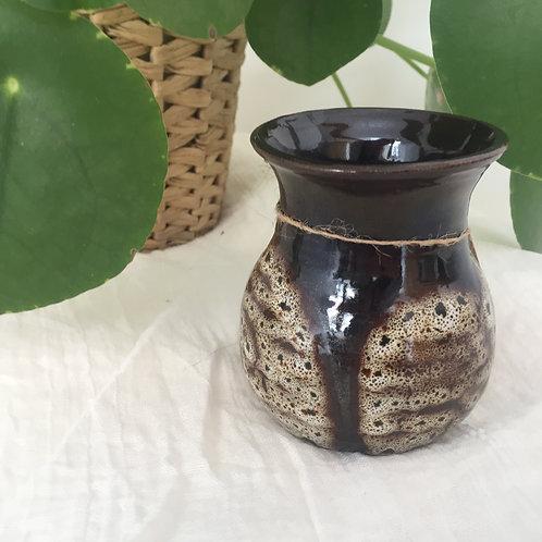 Speckled brown vase
