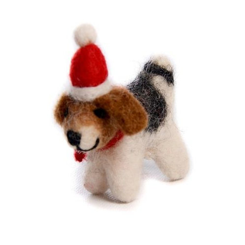 Christmas dog decoration