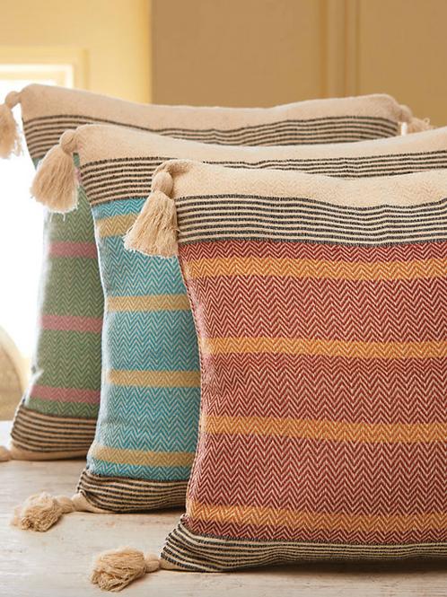 Cotton striped cushion cover