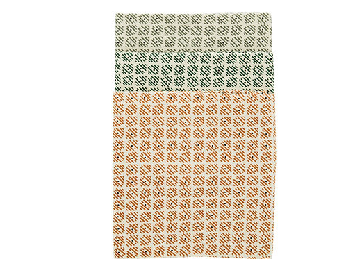Printed cotton tea towel set of 3