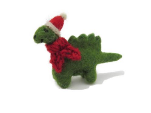 Christmas diplodocus decoration
