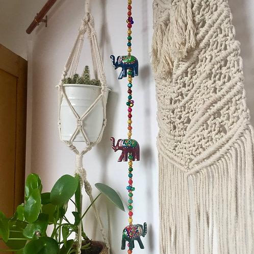 Decorative multi coloured elephants