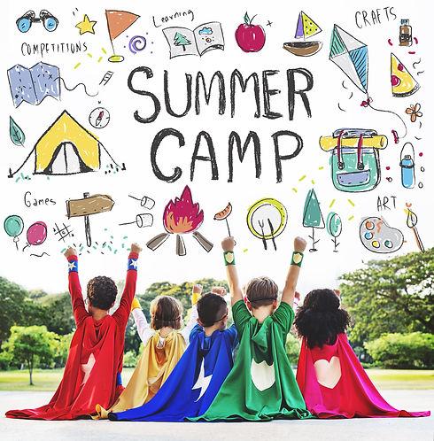 Summer Kids Camp Adventure Explore Conce