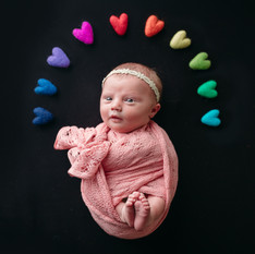 rainbow baby newborn photos, rainbow themed newborn session, kansas city mo newborn photographer, liberty mo newborn photography, liberty mo photographer, blue springs newborn photographer