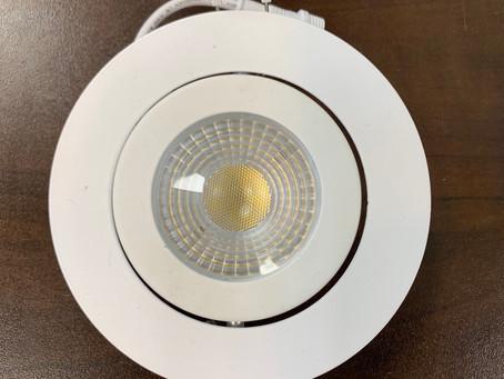 Pot light spacing