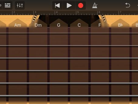 iPhoneアプリ「GarageBand」でギター演奏♪
